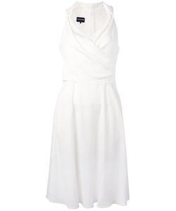 Giorgio Armani | Wrap Front Dress 44 Silk/Spandex/Elastane/Polyester