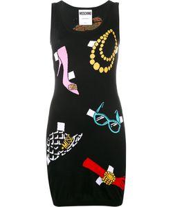 Moschino | Intarsia Knitted Mini Dress 42 Cotton