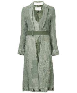 GREG LAUREN   Long Distressed Duffle Coat Women