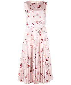 Red Valentino | Плиссированное Платье С Цветочным Рисунком