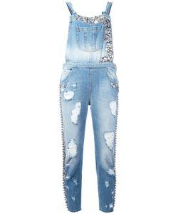 Amen   Embellished Denim Jumpsuit Size 40