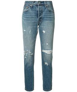 Levi's® | Levis Distressed Straight-Leg Jeans 30 Cotton