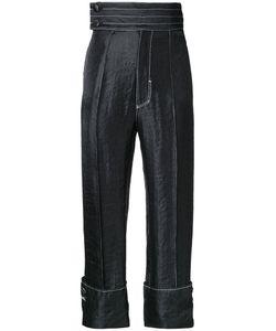 G.V.G.V. | Contrast Stitch Trousers 34 Nylon/Polyester/Rayon
