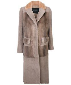 Blancha | Пальто С Искусственным Мехом