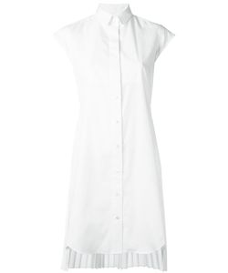 Sacai | Pleated Shirt Dress Iii Polyester/Cotton