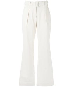 EGREY | Belted Flare Trousers 40 Cotton/Spandex/Elastane