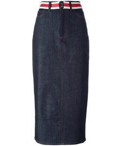 Victoria, Victoria Beckham | Victoria Victoria Beckham Denim Open Back Skirt 10