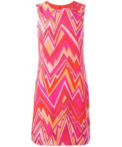 Missoni | M Zig-Zag Print Shift Dress 44 Silk/Polyester