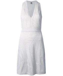 Missoni | M V-Neck Fitted Dress 42 Cotton/Polyamide/Polyester/Viscose