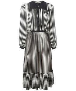 Marco De Vincenzo | Striped Fla Dress 42 Silk