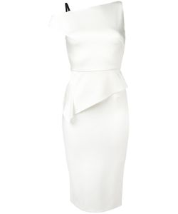 Roland Mouret | Asymmetric Dress 12 Acetate/Viscose/Polyurethane/Silk