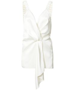Victoria Beckham | Draped Front Blouse 8 Silk