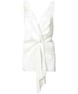 Victoria Beckham | Draped Front Blouse 8 Silk