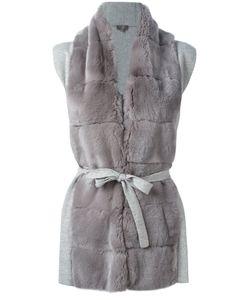 N.PEAL   Furry Detail Cardi-Coat Size Large