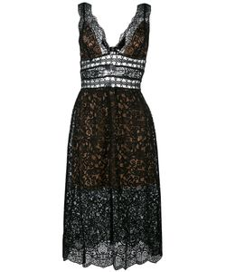 For Love & Lemons | For Love And Lemons Sheer Lace Midi Dress Small