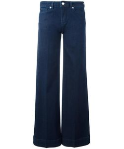 Love Moschino | Brand Embroidery Fla Jeans 30 Cotton/Spandex/Elastane