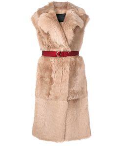 Blancha   Belted Fur Gilet