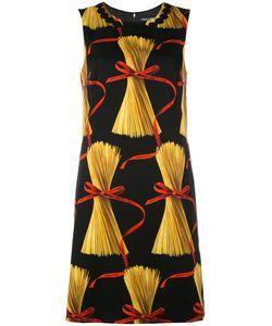 Dolce & Gabbana | Patterned Shift Dress 44 Cotton/Silk/Spandex/Elastane/Silk