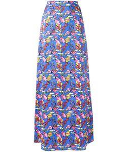 Ultràchic | Kite Patterned Maxi Skirt 40 Cotton/Spandex/Elastane
