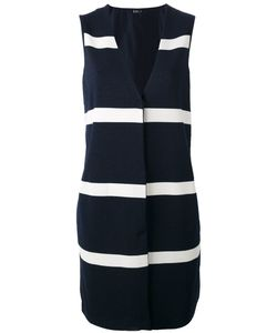Herno | Stripe Panel Sleeveless Jacket Size 46