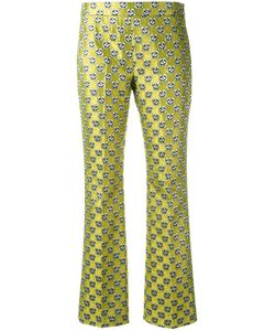 GIAMBA | Jacquard Trousers 44 Cotton/Polyester/Acetate