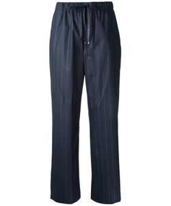 ASTRAET | Drawstring Waistband Pinstripe Trousers 00 Cotton