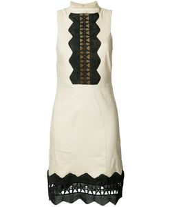 Nicole Miller | Geometric Cut-Out Detail Dress 8