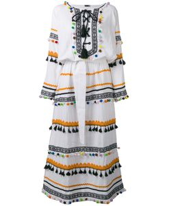 DODO BAR OR | Pom-Pom Fringe Maxi Dress Medium