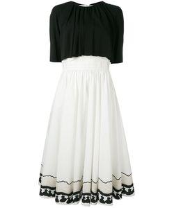 ROSSELLA JARDINI   Pintucked Waist Dress