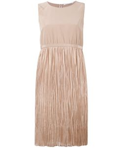 Agnona | Pleated Dress 44 Silk/Cupro