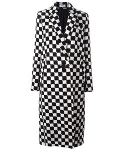 Courreges | Courrèges Checked Long Coat Size 36 Silk/Wool/Polyamide
