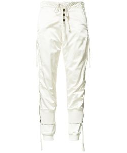 GREG LAUREN | Laye Satin Track Pants 2 Silk