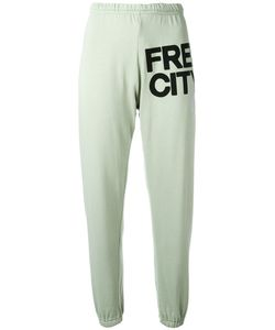 Free City | Freecity Logo Print Track Pants Medium Cotton