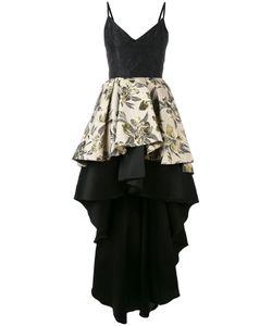 Christian Pellizzari | Jacquard High-Low Ruffle Dress Size