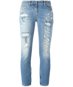 Faith Connexion | Distressed Cropped Jeans 29 Cotton/Spandex/Elastane