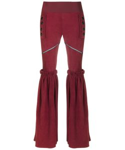 Andrea Bogosian | Leather Wide Leg Trousers Size P Chamois