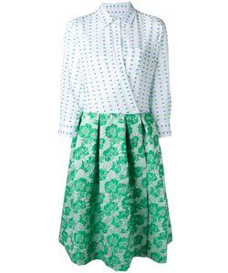 SARA ROKA | Contrast Wrap Dress 42 Cotton/Acrylic/Polyester