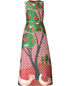 Red Valentino | Tree Print Fla Dress 40 Polyester