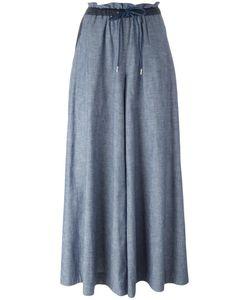 Sacai | Drawstring Chambray Trousers 3 Cotton/Polyester