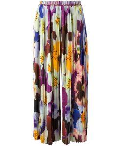 Christopher Kane | Pansey Print Skirt 46 Silk