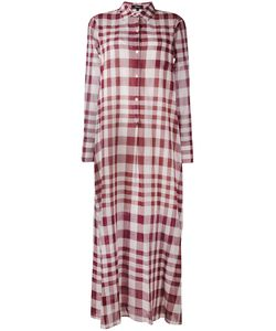 Theory | Plaid Maxi Shirt Dress