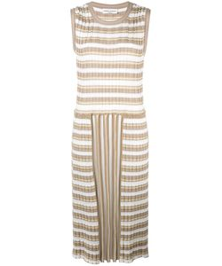 Sonia Rykiel | Pleated Striped Dress Medium Cotton/Triacetate
