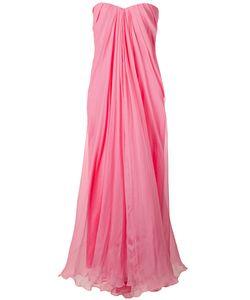 Alexander McQueen   Вечернее Платье-Бюстье С Драпировкой