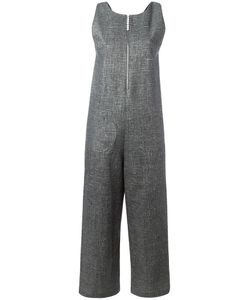 Isa Arfen   Sleeveless Cropped Jumpsuit 6 Linen/Flax/Polyurethane