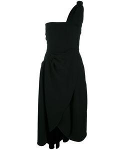 J.W. Anderson | J.W.Anderson Off-Shoulder Beach Bodice Dress 10 Triacetate/Acetate/Silk/Polyester