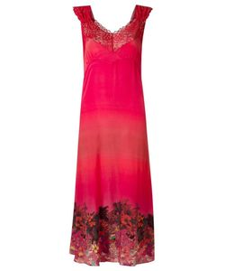 AMIR SLAMA | Lace Detail Dress Medium Silk