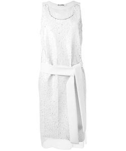 Jil Sander | Sequinned Belted Dress 32 Polyester/Polyamide/Silk/Spandex/Elastane