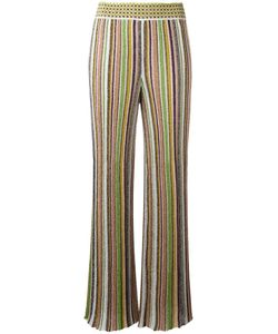 Missoni | Striped Wide Leg Trousers 42 Cupro