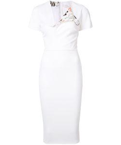 Victoria Beckham | V-Neck Fitted Dress Size 4