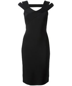 Roland Mouret | Strappy Shoulder Fitted Dress 8 Spandex/Elastane/Viscose/Polyamide